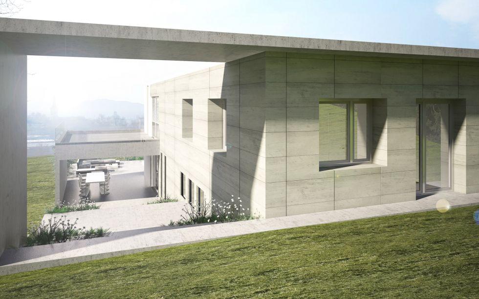 Construction d 39 une maison contemporaine proximit de - Architecte maison contemporaine lyon ...