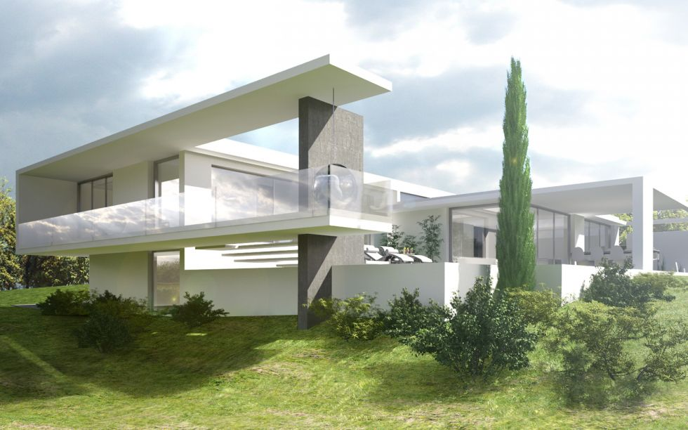 Maison cl2 dilater le paysage projet de construction d for Plan d architecture villa moderne