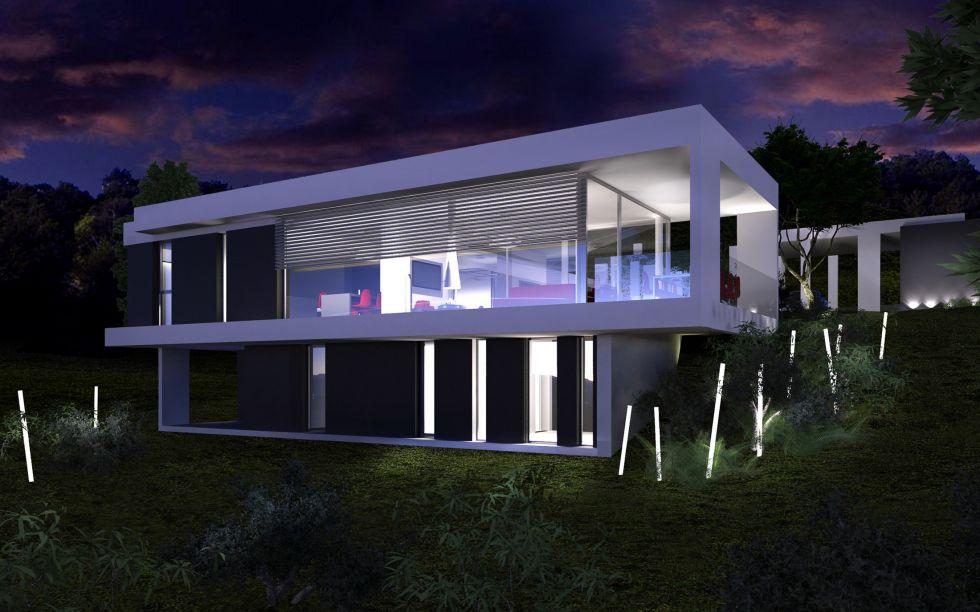Projet de maison contemporaine toiture v g tale dans le for Toiture contemporaine
