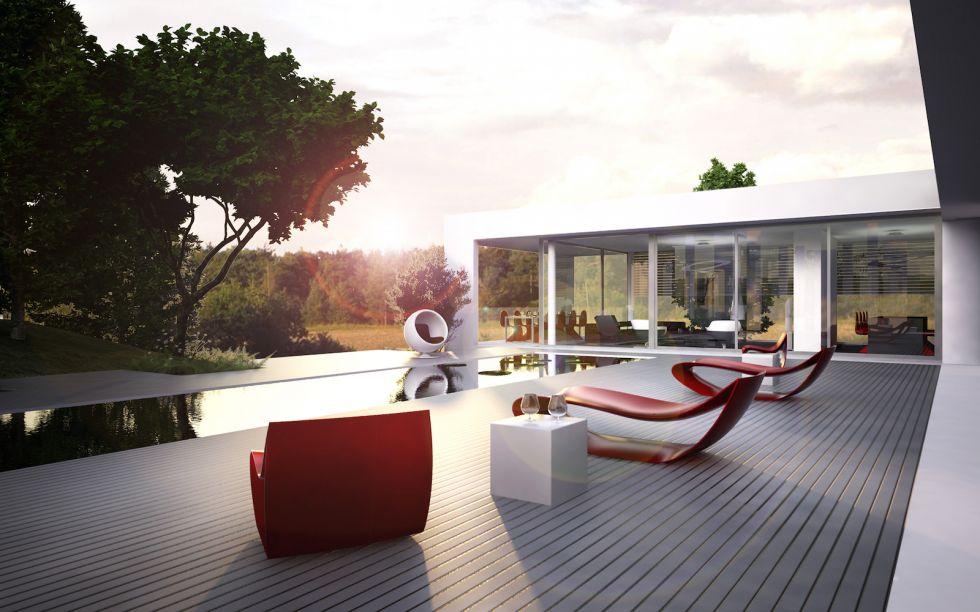 Architecte Tassin La Demi Lune maison jgda - prolonger le paysage, construction d'une maison