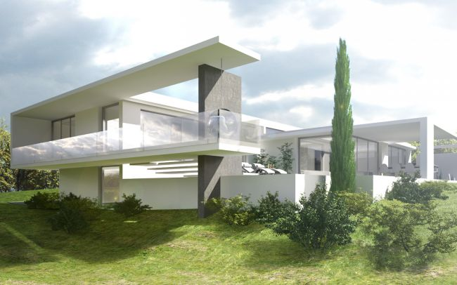 Architecte pour construction maison et villa moderne lyon for Plan d architecture villa moderne