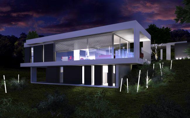 Maison Moderne Sur Terrain En Pente. Finest Maison Sur Terrain En ...